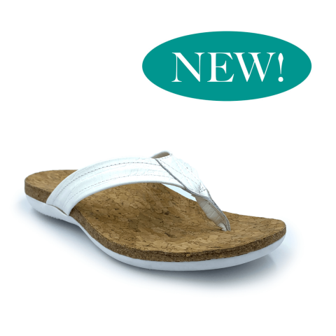 SUBER Orthotic Flip Flops | White | FootActive