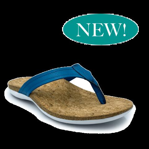 SUBER Orthotic Flip Flops | Blue | FootActive