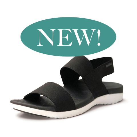 ELLA Orthotic Sandals | BLACK | Zullaz
