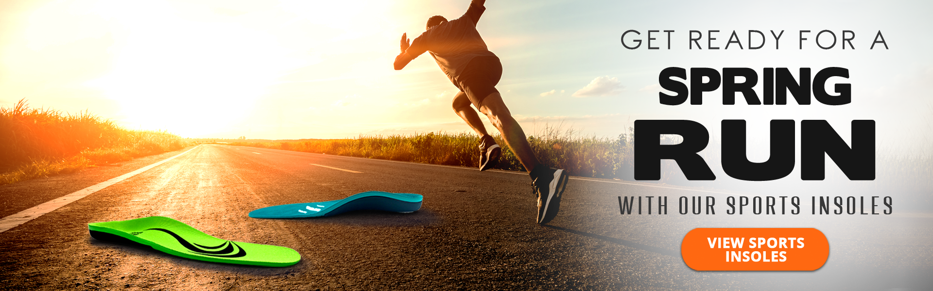Get running ready with our sporting insoles!